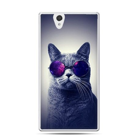 Etui na Sony Xperia Z kot hipster w okularach
