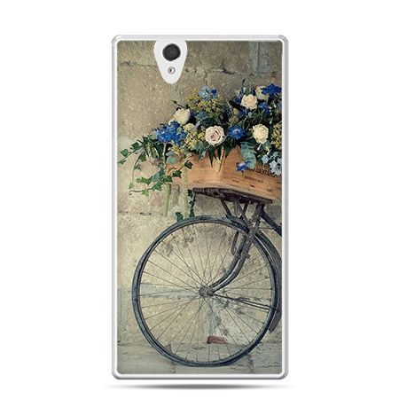 Etui na Sony Xperia Z rower z kwiatami