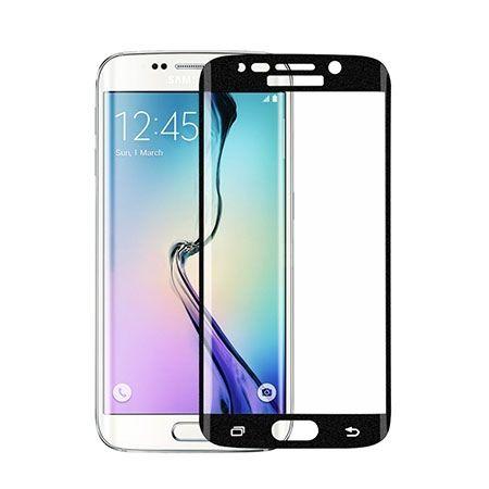 Galaxy S6 Edge Czarne Hartowane szklo na cały ekran