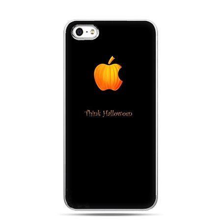 Etui na telefon Halloween dynia logo Apple