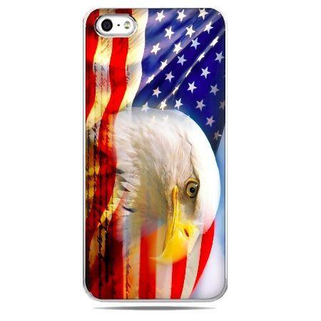 Etui telefon flaga usa z orłem