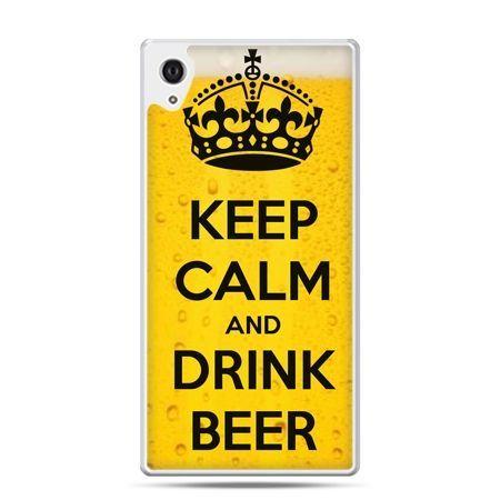 Etui na Xperia M4 Aqua Keep calm and drink beer