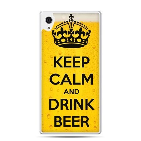 Etui na Xperia M4 Aqua Keep calm and drink beer