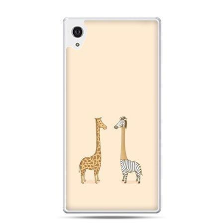 Etui na Xperia M4 Aqua żyrafy