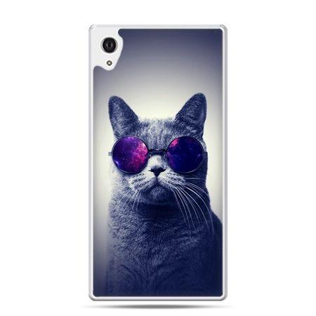 Etui na Xperia M4 Aqua kot hipster w okularach