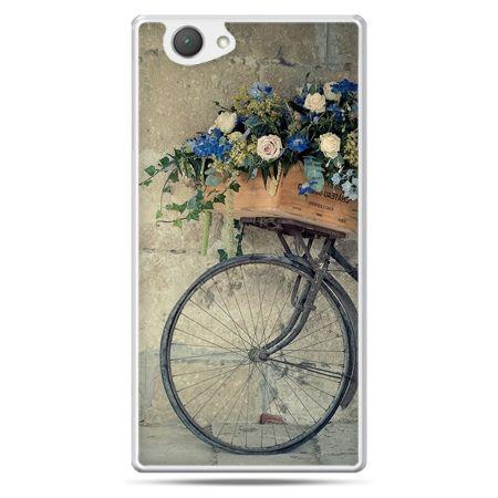 Xperia Z1 compact etui rower z kwiatami