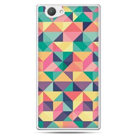 Xperia Z1 compact etui kolorowe trójkąty