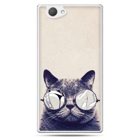 Xperia Z1 compact etui kot w okularach