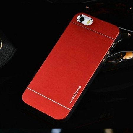iPhone 4 4s etui Motomo aluminium czerwony