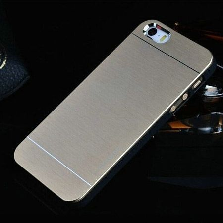 iPhone 4 4s etui Motomo aluminium złoty