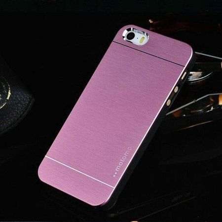 iPhone 4 4s etui Motomo aluminium różowy
