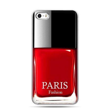 Etui na telefon lakier do paznokci czerwony