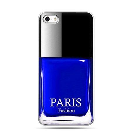 Etui na telefon lakier do paznokci niebieski