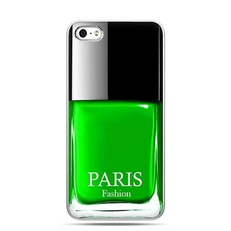 Etui na telefon lakier do paznokci zielony