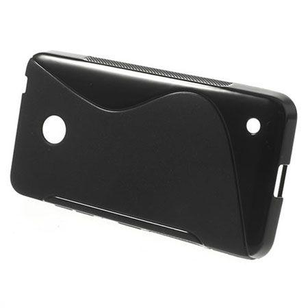Nokia 635 etui S-line gumowe czarne miękkie