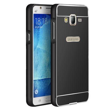 Samsung Galaxy J5 etui aluminium bumper case - czarny.