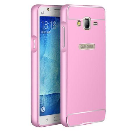 Galaxy J5 etui aluminium bumper case różowy