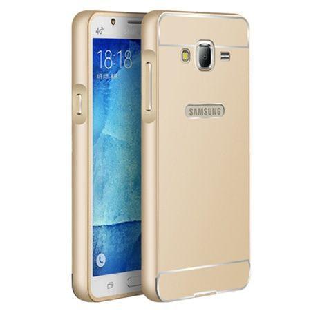 Galaxy J5 etui aluminium bumper case złoty
