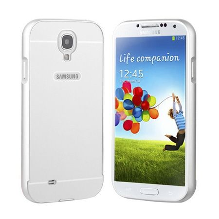 Galaxy S4 etui aluminium bumper case srebrny