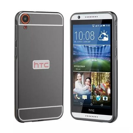 HTC Desire 820 etui aluminium bumper case czarny