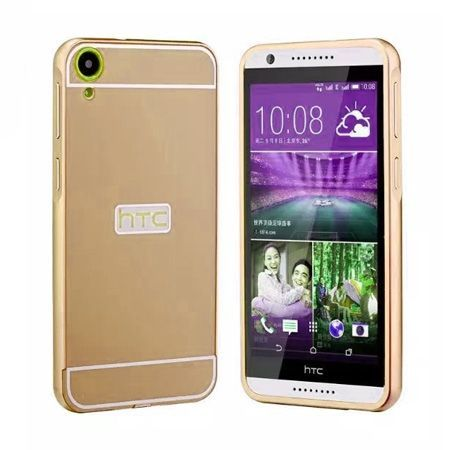 HTC Desire 820 etui aluminium bumper case złoty
