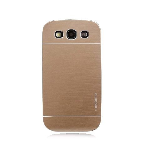Galaxy S3 etui Motomo aluminiowe złoty.