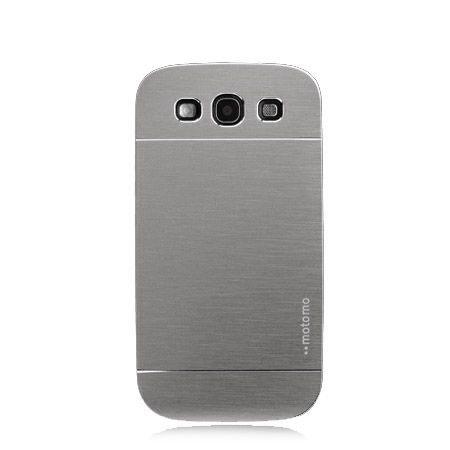 Galaxy S3 etui Motomo aluminiowe srebrny.