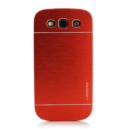 Galaxy S3 etui Motomo aluminiowe czerwony.