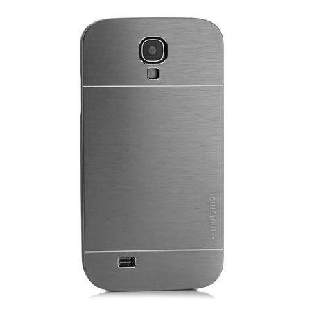 Galaxy S4 etui Motomo aluminiowe srebrny.