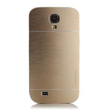 Galaxy S4 etui Motomo aluminiowe złoty.