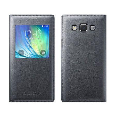 Galaxy A5 etui pokrowiec Flip S View czarny z klapką