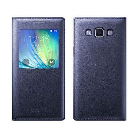 Galaxy A5 etui pokrowiec Flip S View granatowy z klapką.