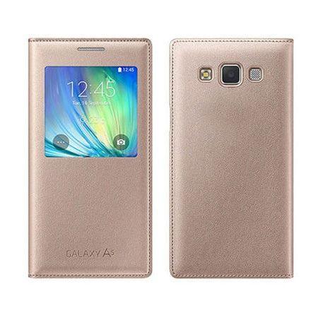 Galaxy A5 pokrowiec Flip S View złoty z klapką