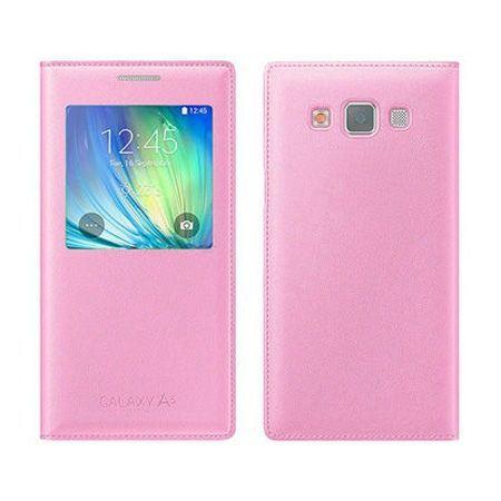 Samsung Galaxy A5 etui pokrowiec Flip S View różowy z klapką