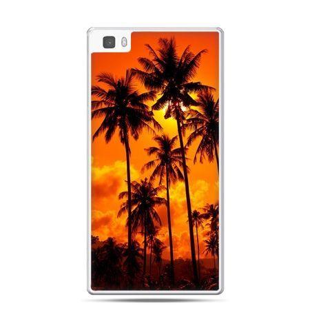 Huawei P8 Lite etui palmy nocą