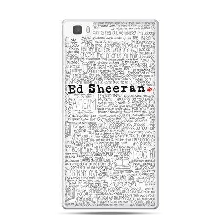 Huawei P8 Lite etui Ed Sheeran białe poziome