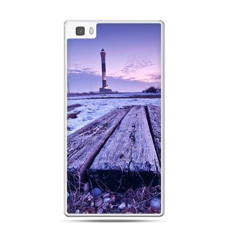 Huawei P8 Lite etui latarnia morska zmierzch