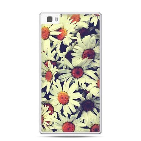 Huawei P8 Lite etui stokrotki