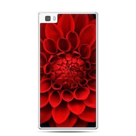 Huawei P8 Lite etui czerwona dalia