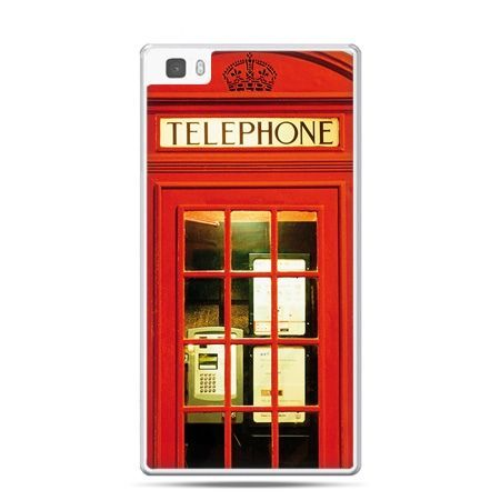 Huawei P8 Lite etui czerwona budka telefoniczna