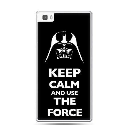 Huawei P8 Lite etui Keep calm and use the force