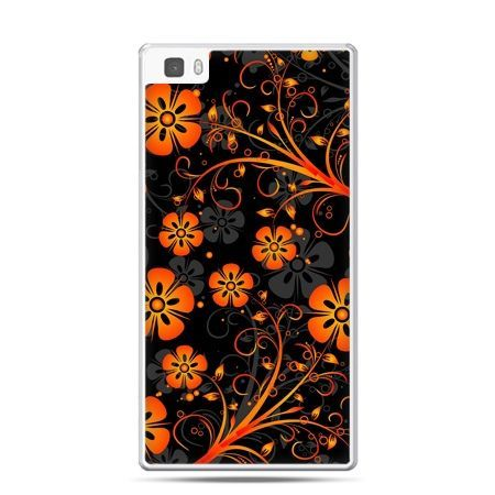 Huawei P8 Lite etui nocne kwiaty