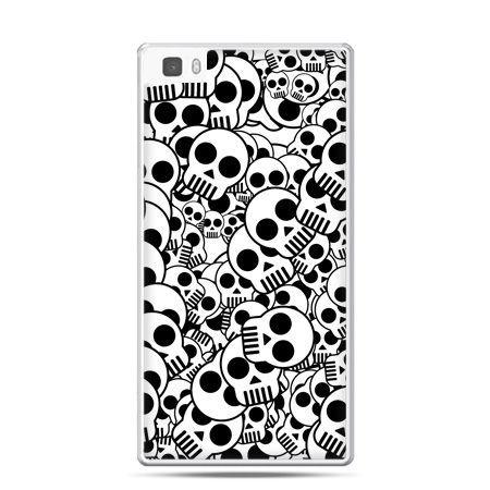 Huawei P8 Lite etui czaszki