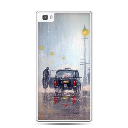 Huawei P8 Lite etui Londyn w deszczu