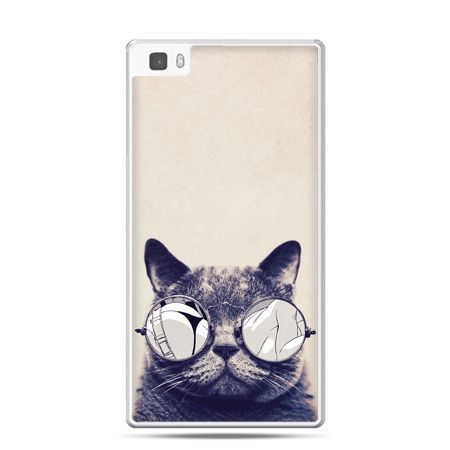 Huawei P8 Lite etui kot w okularach