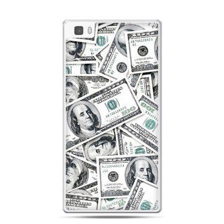 Huawei P8 Lite etui dolary banknoty