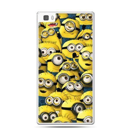 Huawei P8 Lite etui Minionki grupa