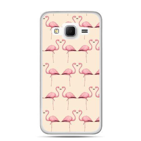Galaxy Grand Prime etui flamingi