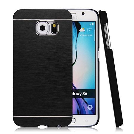 Galaxy S6 edge etui Motomo aluminiowe czarny.