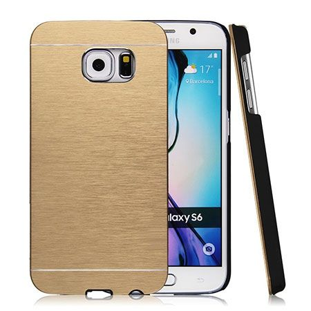 Galaxy S6 edge etui Motomo aluminium złoty